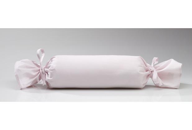 Livingston Batist-Nackenrollenbezug, rosa-weiß gestreift 15x40 cm