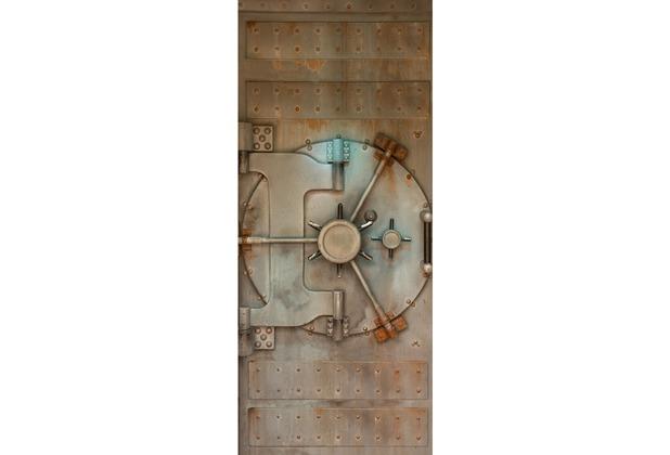 Livingwalls 0200-10 Türtapete Tresor Braun Grau