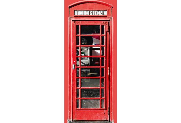 Livingwalls 0200-19 Türtapete Telephone Rot