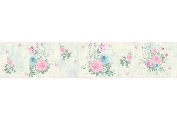 Livingwalls Bordüre Djooz 2 Borte bunt grün rosa 358763 5,00 m x 0,13 m