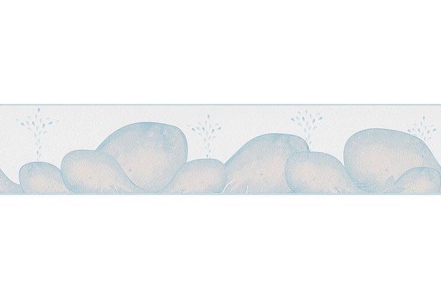 Livingwalls Bordüre Lovely Friends, Bordüre, blau, metallic, weiß 303372 5,00 m x 0,13 m
