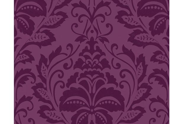 livingwalls flock 3 mustertapete barock vliestapete rot violett ebay. Black Bedroom Furniture Sets. Home Design Ideas