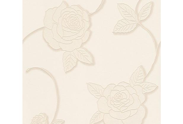 Livingwalls florale Mustertapete Moments Vliestapete creme metallic weiß 328323 10,05 m x 0,53 m
