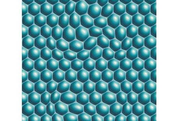 Livingwalls futuristische 3D Tapete Harmony in Motion by Mac Stopa blau grau metallic 327204 10,05 m x 0,53 m