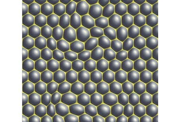 Livingwalls futuristische 3D Tapete Harmony in Motion by Mac Stopa grau grün schwarz 327201 10,05 m x 0,53 m