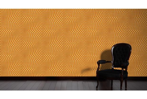Livingwalls futuristische 3D Tapete Harmony in Motion by Mac Stopa Tapete grau metallic orange 10,05 m x 0,53 m
