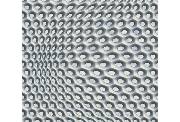 Livingwalls futuristische 3D Tapete Harmony in Motion by Mac Stopa grau metallic schwarz 327072 10,05 m x 0,53 m