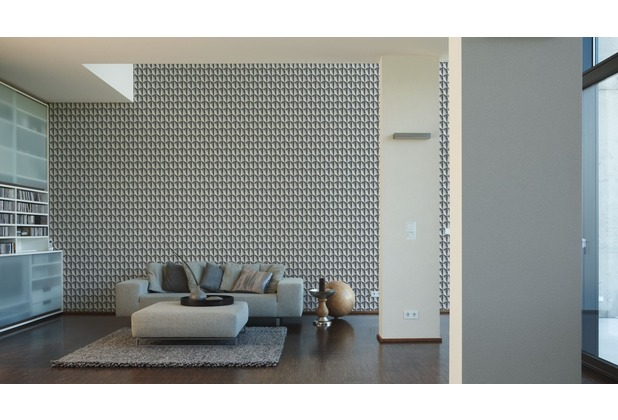 Livingwalls futuristische 3D Tapete Harmony in Motion by Mac Stopa Tapete grau metallic schwarz 10,05 m x 0,53 m