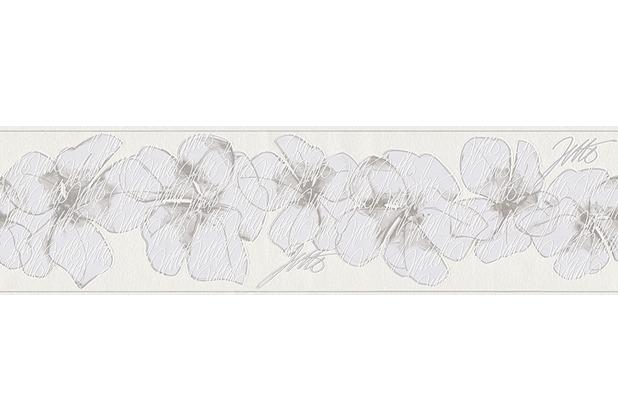 Livingwalls Jette Bordüre, braun, grau, weiß 959913
