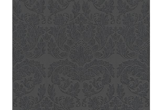 Livingwalls Mustertapete Black & White 3, Vliestapete, metallic, schwarz 303965 10,05 m x 0,53 m