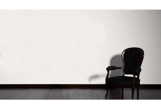 Livingwalls Mustertapete Black & White 3, Vliestapete, metallic, weiß 132055 10,05 m x 0,53 m