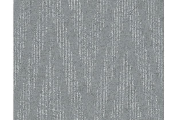Livingwalls Mustertapete Titanium Tapete grau metallic 306453 10,05 m x 0,53 m