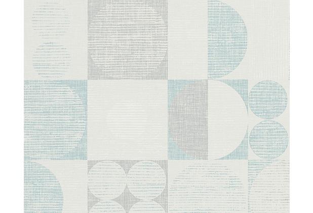 Livingwalls Retro-Mustertapete Titanium Tapete beige blau grau 306443 10,05 m x 0,53 m