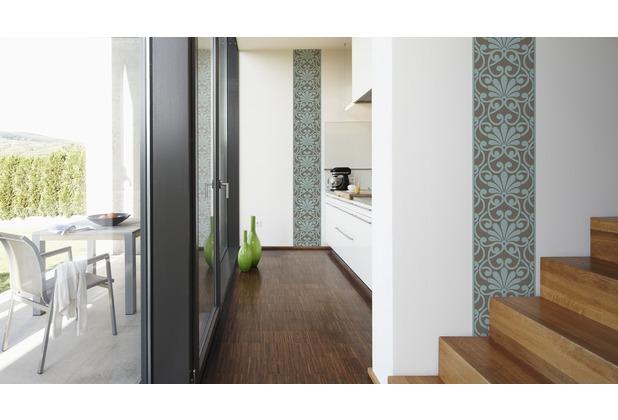 "Livingwalls selbstklebendes Panel \""Pop.up Panel\"", blau, braun 2,50 m x 0,35 m"