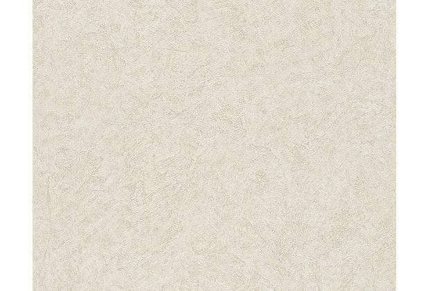 Livingwalls Uni-, Strukturtapete Titanium Tapete beige creme metallic 315434 10,05 m x 0,53 m