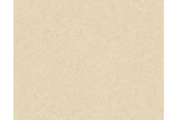 Livingwalls Uni-, Strukturtapete Titanium Tapete creme gelb 315335 10,05 m x 0,53 m