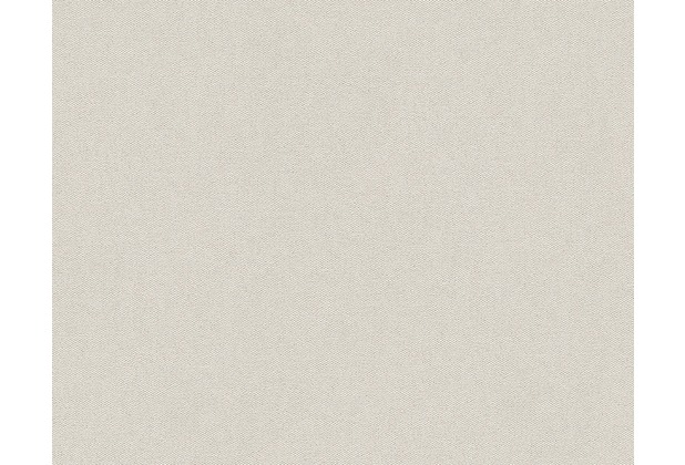 Livingwalls Uni-, Strukturtapete Titanium Tapete creme metallic 881847 10,05 m x 0,53 m