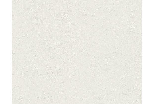 Livingwalls Uni-, Strukturtapete Titanium Tapete creme weiß 315311 10,05 m x 0,53 m