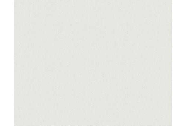 Livingwalls Uni-, Strukturtapete Titanium Tapete metallic weiß 881854 10,05 m x 0,53 m