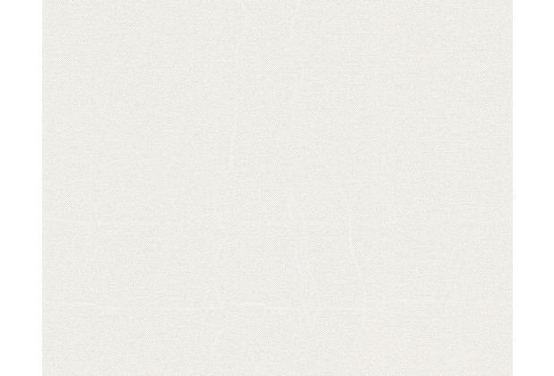 Livingwalls Unitapete Elegance 2, Vliestapete, metallic, weiss 936761 10,05 m x 0,53 m
