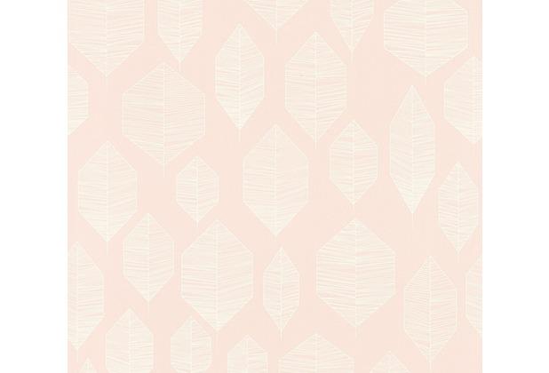 Livingwalls Vliestapete Colibri Tapete grafisch modern rosa weiß 362091 10,05 m x 0,53 m