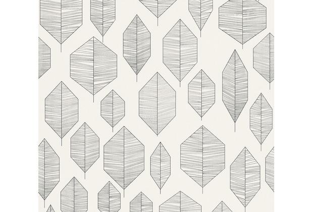 Livingwalls Vliestapete Colibri Tapete grafisch modern schwarz creme 362092 10,05 m x 0,53 m