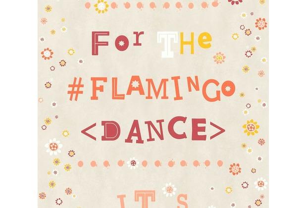 Livingwalls Vliestapete Cozz Ökotapete Flamingo Dance grau beige orange 362932 10,05 m x 0,53 m