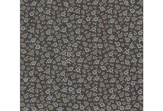 Livingwalls Vliestapete Cozz Ökotapete floral jung schwarz grau beige 362924 10,05 m x 0,53 m