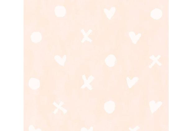 Livingwalls Vliestapete Cozz Ökotapete grafisch rosa weiß 362944 10,05 m x 0,53 m