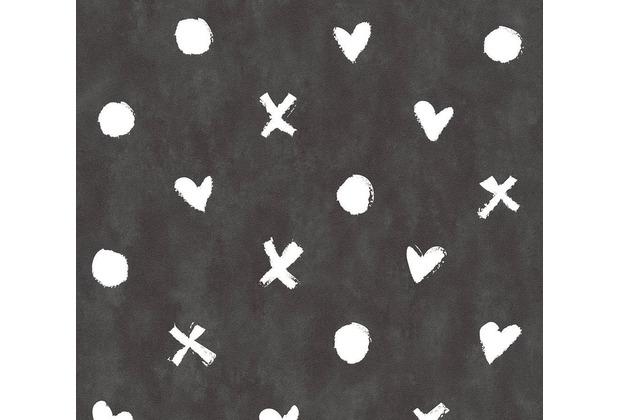 Livingwalls Vliestapete Cozz Ökotapete grafisch schwarz weiß 362941 10,05 m x 0,53 m