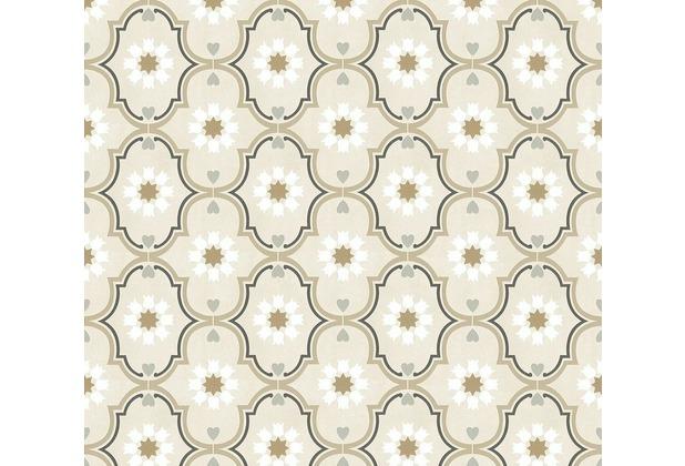 Livingwalls Vliestapete Cozz Ökotapete mit orientalischen Ornamenten grau beige braun 362971 10,05 m x 0,53 m