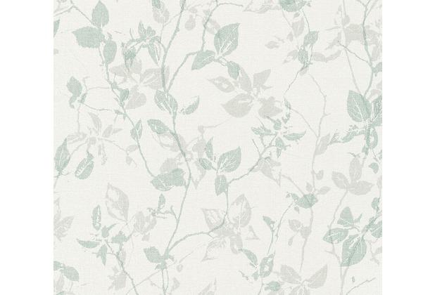 Livingwalls Vliestapete Hygge Tapete floral creme grau grün 363972 10,05 m x 0,53 m