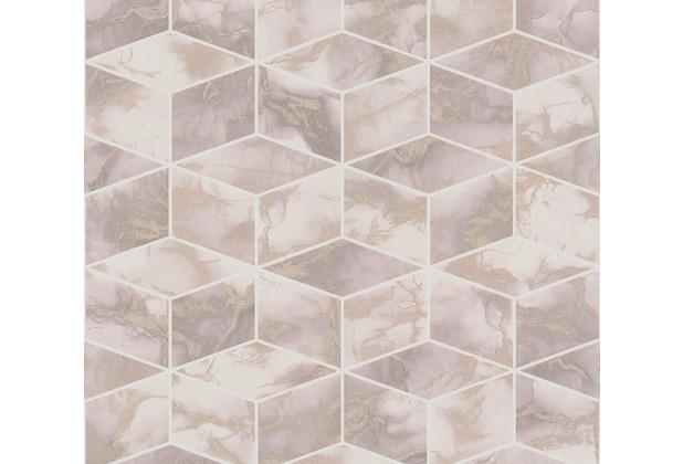 Livingwalls Vliestapete Metropolitan Stories 3D Tapete in Marmor Optik Alena St. Petersburg metallic rosa weiß 378632 10,05 m x 0,53 m
