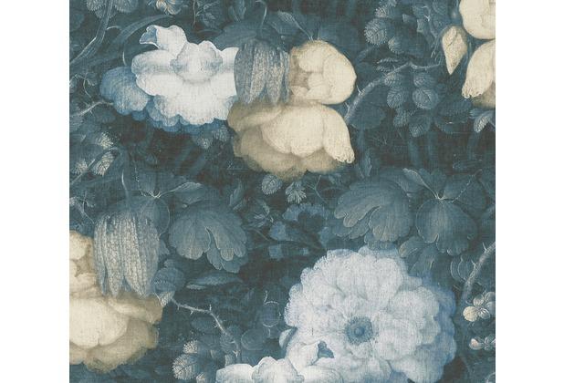 Livingwalls Vliestapete Metropolitan Stories Anke & Daan Amsterdam floral blau gelb grün 369213 10,05 m x 0,53 m
