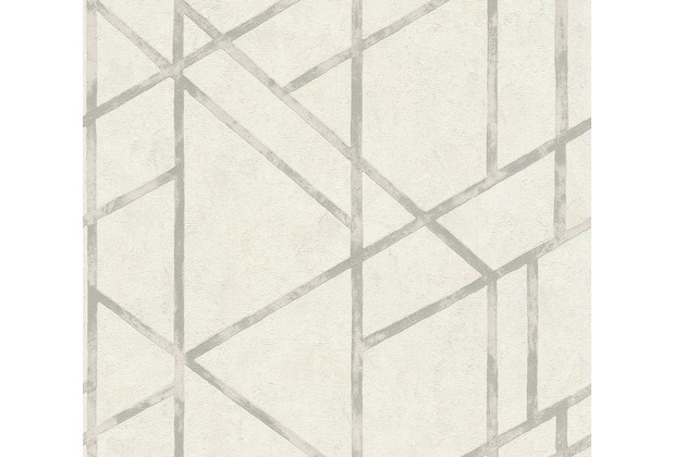 Livingwalls Vliestapete Metropolitan Stories Francesca Milano Tapete metallic weiß 369285 10,05 m x 0,53 m