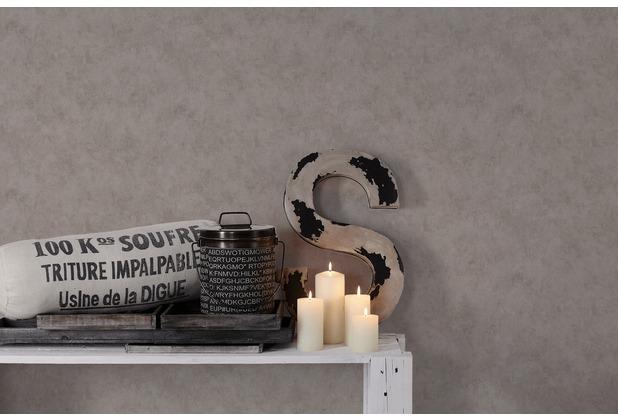 Livingwalls Vliestapete Metropolitan Stories Francesca Milano Tapete in Vintage Optik grau metallic 10,05 m x 0,53 m