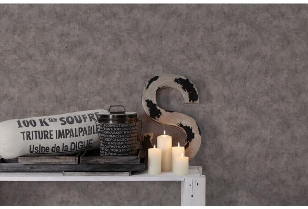 Livingwalls Vliestapete Metropolitan Stories Francesca Milano Tapete in Vintage Optik grau 10,05 m x 0,53 m