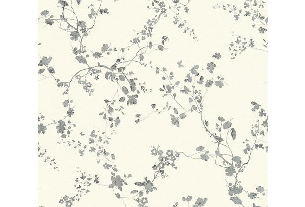 Livingwalls Vliestapete Metropolitan Stories Lola Paris floral metallic schwarz weiß 368962 10,05 m x 0,53 m
