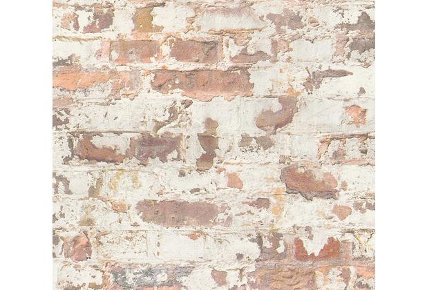 Livingwalls Vliestapete Metropolitan Stories Paul Bergmann Berlin grau orange weiß 369291 10,05 m x 0,53 m