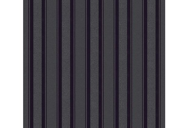 Livingwalls Vliestapete mit Glitter Neue Bude 2.0 Streifentapete schwarz 361673 10,05 m x 0,53 m