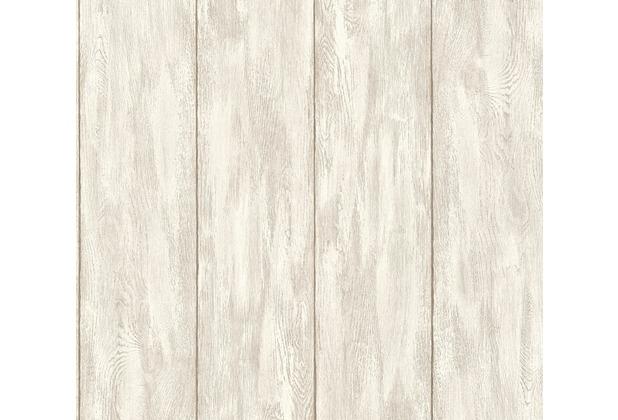 Livingwalls Vliestapete Neue Bude 2.0 Tapete in Holz Optik beige creme 361522 10,05 m x 0,53 m