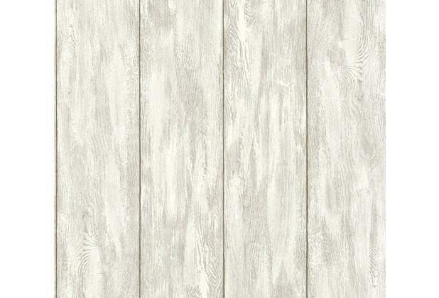 Livingwalls Vliestapete Neue Bude 2.0 Tapete in Holz Optik grau beige creme 361521 10,05 m x 0,53 m