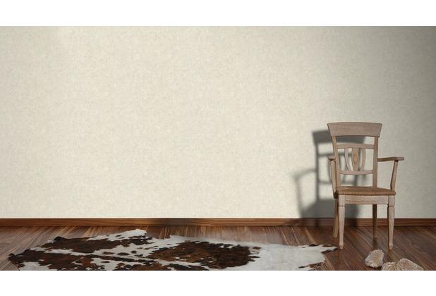 Livingwalls Vliestapete Neue Bude 2.0 Unitapete beige grau 10,05 m x 0,53 m