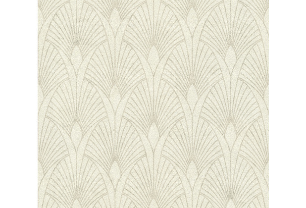 Livingwalls Vliestapete New Walls Tapete 50\'s Glam Art Deco Optik metallic creme weiß 374271 10,05 m x 0,53 m