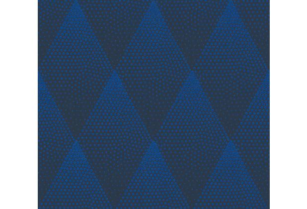 Livingwalls Vliestapete New Walls Tapete 50\'s Glam geometrisch grafisch blau schwarz 374191 10,05 m x 0,53 m