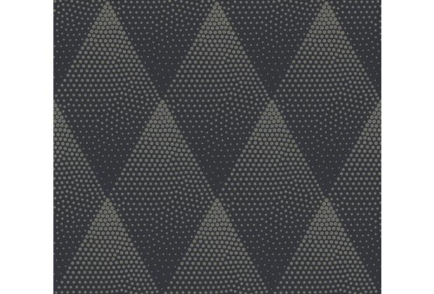 Livingwalls Vliestapete New Walls Tapete 50\'s Glam geometrisch grafisch schwarz metallic 374193 10,05 m x 0,53 m