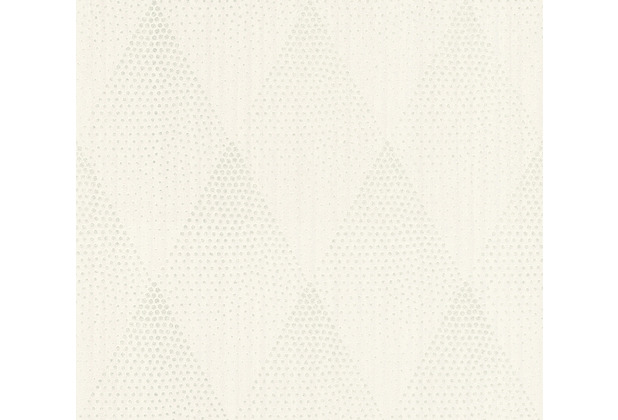 Livingwalls Vliestapete New Walls Tapete 50\'s Glam geometrisch weiß grau metallic 374192 10,05 m x 0,53 m