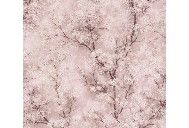 Livingwalls Vliestapete New Walls Tapete Cosy & Relax mit Kirschblüten rosa weiß creme 374204 10,05 m x 0,53 m