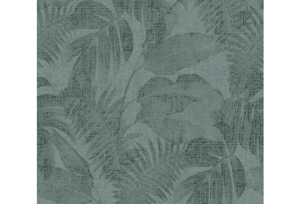 Livingwalls Vliestapete New Walls Tapete Cosy & Relax mit Palmenblättern grün 373963 10,05 m x 0,53 m