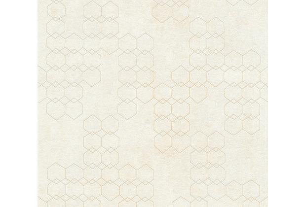 Livingwalls Vliestapete New Walls Tapete Urban Grace geometrisch weiß creme grau 374241 10,05 m x 0,53 m